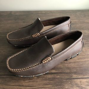 Dexter Men 7 Driving Mocs Brown Slip On Drivers